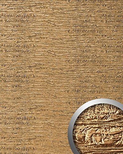 Panel decorativo autoadhesivo textura madera WallFace 15660 PERSIAN TREASURE vieja aspecto metal color oro 2,60 m2