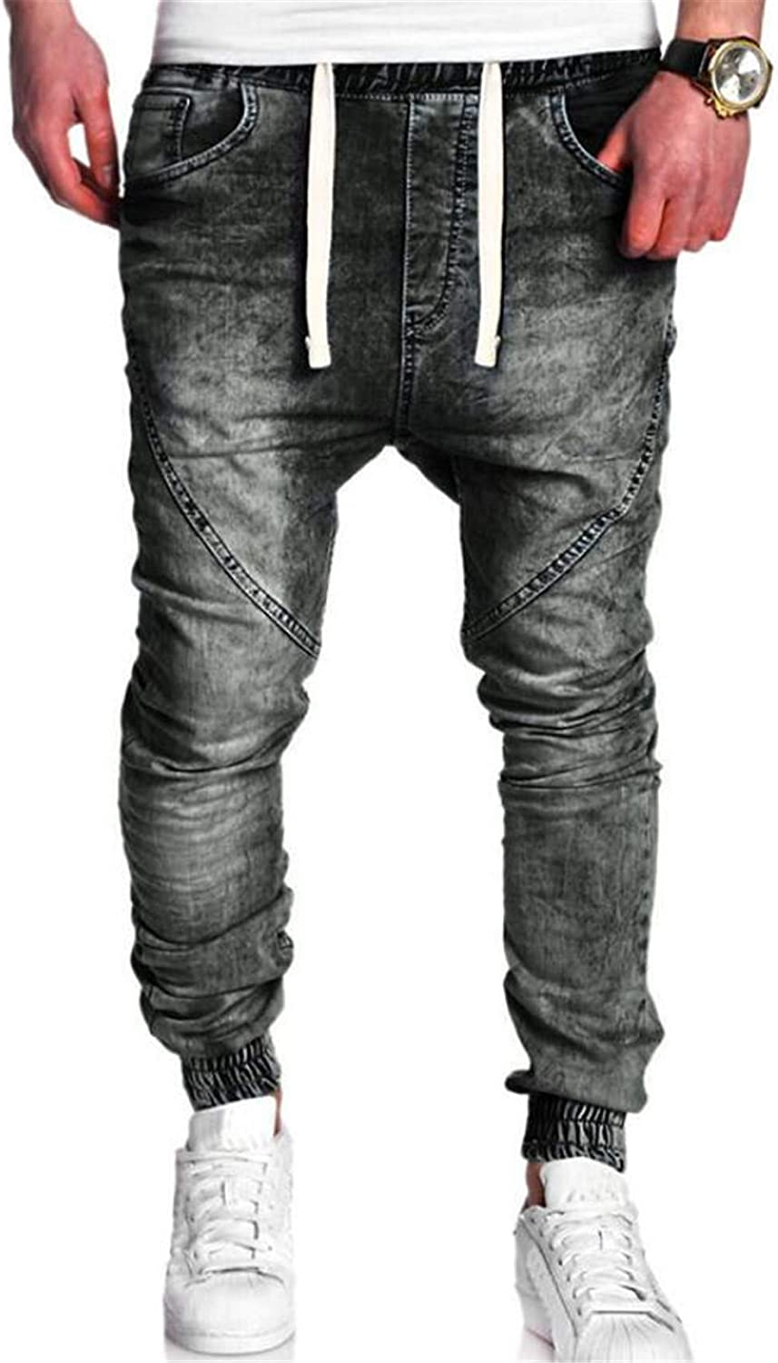 335db5db72514c BYWX BYWX BYWX Men Jeans Skinny Slim Fit Twill Jogger Denim Pants 4c4832
