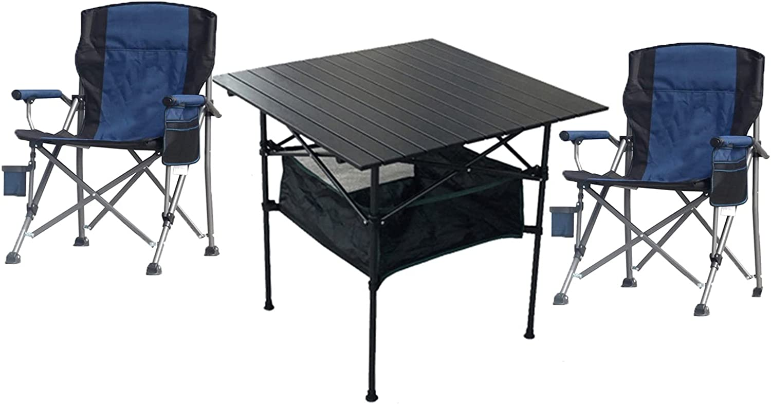 Bargain sale Camping Alternative dealer Table Chairs Lightweight Folding Chair and Ox Set