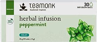 Sponsored Ad - Teamonk Peppermint Herbal Tea Bags | 30 Teabags | 100 % Natural Tisane herbal Tea | Caffeine Free | Detox h...