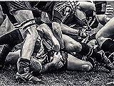TTbaoz Puzzles Puzzle 1000 piècesscies sauteuses Sport Rugby Football Gros Plan Jeu ArtEnfants Adultes Loisirs Jeu drôle Jouet