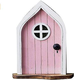 Miniature Gnome Home Door, Miniature Gnome Country Cottage Fairies Door Garden Decor Art Sculptures Mini Fairies Garden Ac...