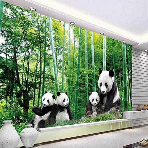 RTYUIHN Photo Wallpaper Panda Bamboo Green Natural Beauty 3D Large Wallpaper Modern Wall Art Decoration