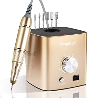 Nail Drill for Acrylic Nails - Electric Nail Drill Machine BTArtbox 30000 rpm Professional Efile Nail Drill for Gel Nails Remove Poly Nail Gel Women Home and Salon Use, Gold