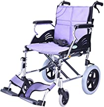 Zhi BEI Wheelchair, Aluminum Alloy Light Portable Multi-Function Elderly Disabled Manual Manual Scooter Care Car,  
