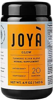 JOYÀ Glow Turmeric Adaptogenic Elixir Blend, 20 Servings / 4.9 oz, Adaptogen Supplement, Turmeric Latte & Golden Milk Powder with Ashwagandha, Astragalus & Ginger, Natural Anti-Stress & Immune Support