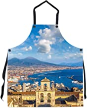 P.S. I Love Italy Napoli Apron - Italian Themed Cool and Cute Bib Aprons for Men and Women