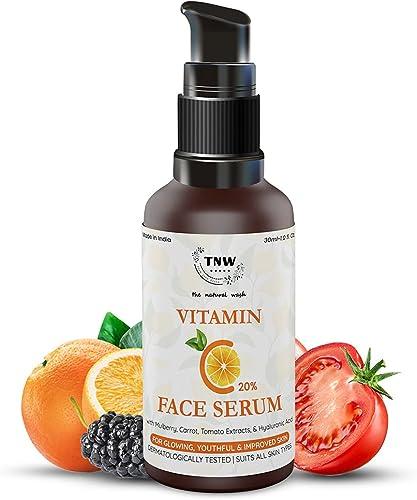 TNW-THE NATURAL WASH Vitamin C Face Serum|Skin Clearing|Skin Repair Face Serum & Face Brightening Vitamin C Serum Red...