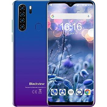 Blackview A80Pro スマートフォン本体 4Gスマホ本体 simフリースマートフォン本体 6.49インチ 13MP+8MP 4680mAh RAM 4GB + ROM 64GB Android 9.0端末 携帯電話 技適認証済み 1年間保証付き(ブルー)
