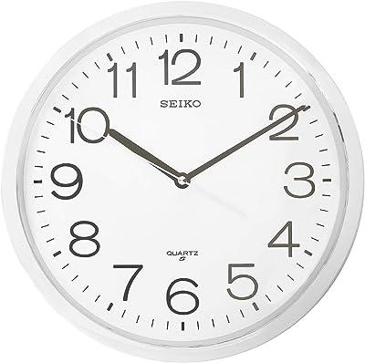Seiko Wall Clock(QXA014SN,Silver,31.1 CMX31.1 CMX3.9 cm