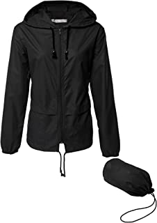 Lightweight Waterproof Raincoat For Women Packable...
