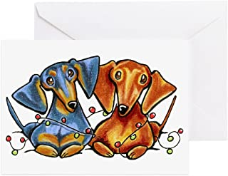 CafePress - Dachshund Christmas Greeting Cards - Greeting Card (20-pack), Note Card with Blank Inside, Birthday Card Glossy