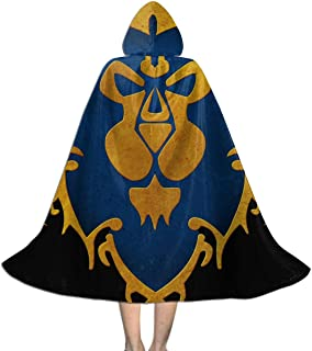 Alliance Logo - World of Warcraft Kids Hooded Cloak Cape for Christmas Halloween Cosplay Costumes Robe