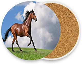CoolToiletLidCoverCC Horse athlete - nice photo shoot Ceramic Coaster for Drinks 4