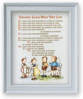 Gerffert Collection Bedtime Prayes Framed Portrait Print, 11 1/2 Inch - Children Learn What They Live