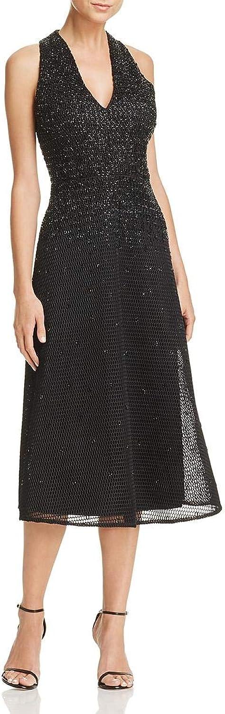 Aidan Mattox Womens ALine Sleeveless Cocktail Dress