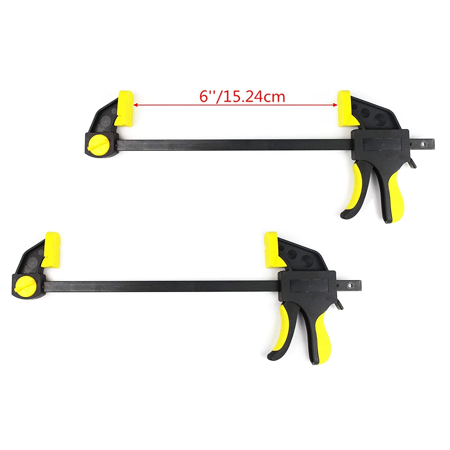 Ratchet Quick Bar Clamp and Spreader, PANGOLIN 6 Inch Quick-Release Clamps One Handed Bar Performance for Woodworking,Handyman and Keep with 3 Year Warranty-(2 Pack)