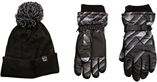 ZeroXposur Boys Winter Cold Weather Ricky Gloves & Beanie Set GEO