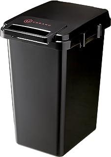 リス 日本製 ゴミ箱 フタ付き アルバーノ 連結ワンハンドペール 45L ブラック 45J