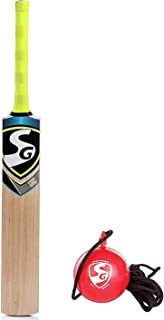 SG Cricket Practice Combo - Nexus Plus Kashmir Willow Cricket Bat + I-ball Hanging Practice Ball