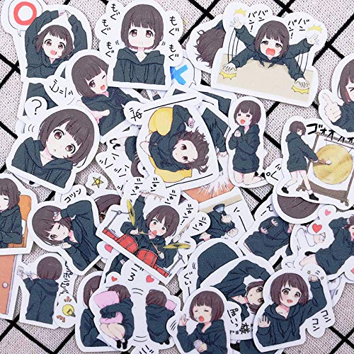 WOKAO Sticker Emoji Bag Cute Anime Sticker Just Suitcase Pain Paste Mobile Phone Sticker