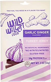 Wild Willett Food: Garlic Ginger Turkey Jerky | Gluten-Free, Keto Friendly (< 1g Sugar), Low Calorie. (The ...