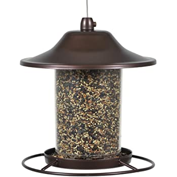 Perky-Pet 312 Panorama Bird Feeder, 2 lbs,Brown