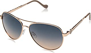 Women's J5702 Metal Aviator Sunglasses with 100% UV...