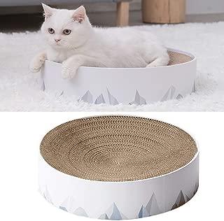 UEETEK 爪とぎ 猫 ベッド ダンボール サークル ストレス解消 人気 スクラッチャー 猫用ソファ 寝床 ペット用 爪研ぎボード