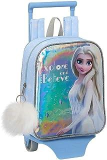 Disney Frozen 2 Mochila con Ruedas para Niñas, Carrito de Guardería Pequeño, Mochila Mini Escolar, Bolso de Viaje Infantil...