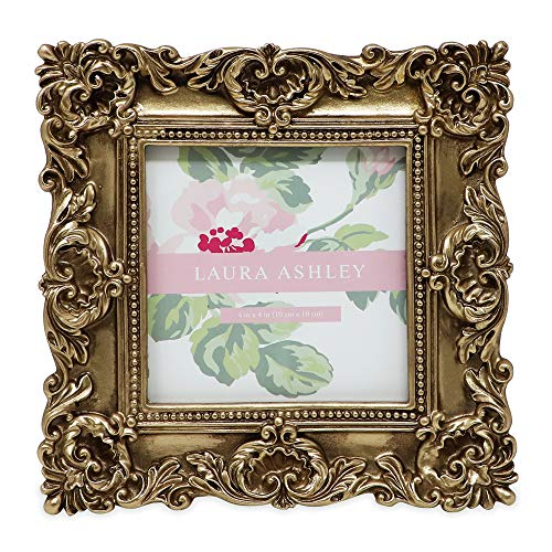 Laura Ashley 4x4 Gold Ornate Textured Hand-Crafted...