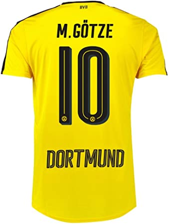 Puma Borussia Dortmund Fútbol camiseta Home 2016 2017 Hombre M. Götze 10 Amarillo Negro