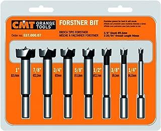 CMT 537.000.07  7-Piece Forstner Bit set, 1/4-3/8-1/2-5/8-3/4-7/8-1 Diameters, 3/8-Inch Shank