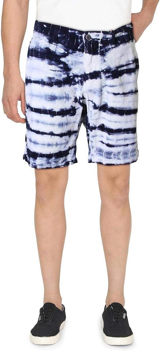 Paperbacks Mens Pacific Bamboo Corduroy Tie-Dye Khaki, Chino Shorts