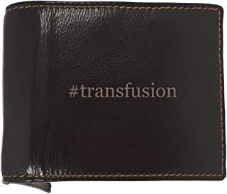 #transfusion - Soft Hashtag Cowhide Genuine Engraved Bifold Leather Wallet