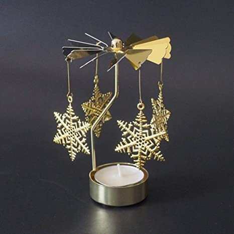 Brass tea light with Christmas trees