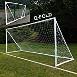 QuickPlay Q-Fold 16x7' | The 30 Second Folding Soccer Goal for Backyard [Single Goal] The Best Weatherproof Soccer Net for Kids and Adults - 2YR Warranty