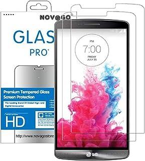 NOVAGO - Protector de Pantalla para LG G3-(2 Unidades, Cristal Templado, Resistente a los roturas de Pantalla)