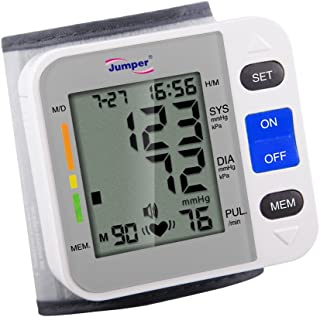 Portable Reliable Digital Wrist Arm Blood Pressure Monitor - One Touch Bottom Easy Operation by Unlimited Quantity