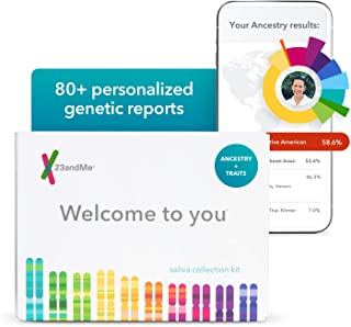 23andMe Ancestry + Traits Service: Personal Genetic DNA Test with 2000+ Geographic Regions, Family Tree, DNA Relative Find...