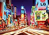 Close Up Times Square XXL Poster New York by Night (140cm x