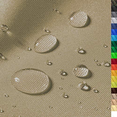 "1buy3 \""Monaco Wasserdichter Polyester Stoff | 12.000 mm Wassersäule | Farbe 04 | Khaki | Polyester Stoff 160cm breit"
