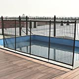 HAPPYGRILL 4'X12' Swimming Pool Fence Barrier, Child Kids Pool Safety Mesh Fence