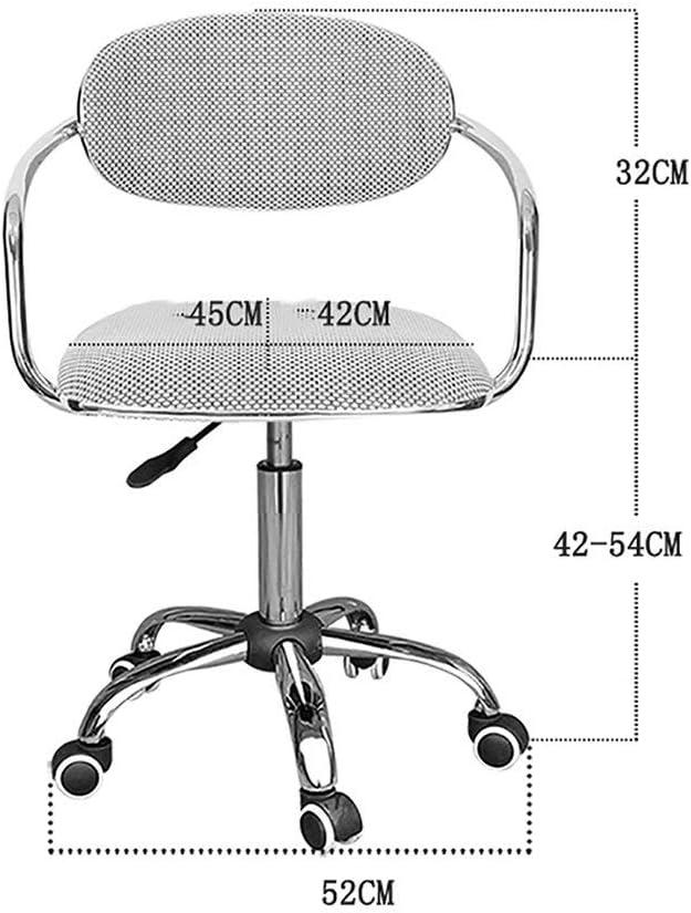 XYQB Mode Chaise pivotante en rotin, Chaise d'ordinateur Caisse enregistreuse Tabouret Chaise pivotante Dossier Chaise Chaise Bureau Tabouret d'ordinateur (Couleur: H) F