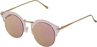 Sky Vision Panto Sunglasses for Women, Brown Lens, F3623