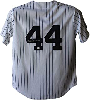 Reggie Jackson Autographed Jersey - Majestic White L 20504 - JSA Certified - Autographed MLB Jerseys