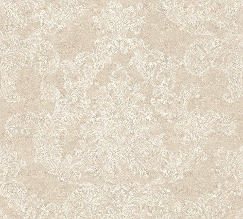 A.S. Création Vliestapete Elegance Tapete neo barock 10,05 m x 0,53 m beige creme Made in Germany 305181 30518-1