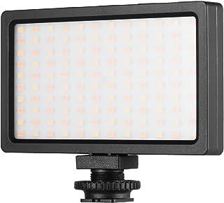 Kshzmoto LED Video Light Panel On Camera 3200K 5600K Dimmbare Lampe Einstellbare Helligkeit Blitzlicht mit kalter Schuhhalterung für Fotografie Live Streaming