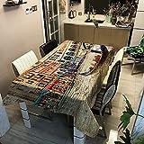 Tovaglia da Tavola Rettangolare Moderna Serie Paesaggio Minimalista Stampata Impermeabile Adatta per Tovaglia Multi-Tavolo