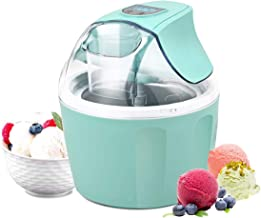 Costway Ice Cream Maker 1.5 Quart Automatic Macarons Color Ice Cream Machine, custard Frozen Yogurt Sorbet Gelato Machine with Auto Shut Off Timer, LCD Display and Mixing Paddle for Soft Serve Dessert(Green)